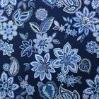 WAVERLY CHARISMATIC DELFT BLUE JACOBEAN FLORAL TOILE FABRIC BY THE YARD 54
