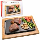 Cooking Stone- Lava Hot Stone Cooking Platter and Cold Lava Rock Hibachi Gril...