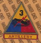 US Army 3rd Armored Division SPEARHEAD ARTILLERY Armor Tank patch tab set