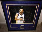Stephen Curry Auto Framed Warriors Photo