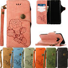Retro Flower Wallet Flip Stand Card Case For Samsung Galaxy Note 8 S8 S7 S6 S5