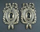 2 Vintage Antique Style Ornate French Eschutcheons Key Hole Covers 2 1/2