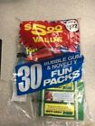 1982 Topps Fun Pack Bag- 5 1982 Topps Football Wax Packs & More - Factory Sealed
