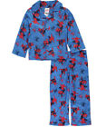Spider Man Spiderman Little Boys 4T 4 Pajamas Infinity Web Blue Red Flannel