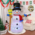 4Ft Indoor Outdoor LED Inflatable Christmas Snowman Holiday Decor Lighted Lawn