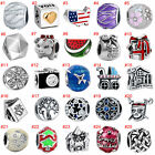 2018 European Silver Beads Charms Bead Pendant Fit 925 Sterling Bracelet Chain