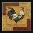 FRAMED Loire Matin I - French Country Rooster by Pamela Gladding 12x12 Art Print