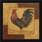 FRAMED Loire Matin II -French Country Rooster by Pamela Gladding 12x12 Art Print
