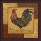 FRAMED Loire Matin II French Country Rooster by Pamela Gladding 12x12 Art Print