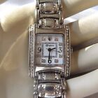 BRIGHTON SILVER PLATED WOMEN'S WATCH WITH SWAROVSKI CRYSTALS - NEW BATTERY