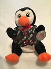 NEW COCA COLA Penguin In Holiday Vest 5 1 2 Inches tall Style 0172 Bean Bag