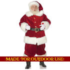 SANTA CLAUS Plastic Outdoor YARD SIGN Lifesize Christmas Standee Standup F S