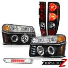 04-12 Chevy Colorado Matte Black Tail Lamps Euro Clear Signal Led 3Rd Brake Head