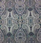 WAVERLY PAISLEY PIZZAZZ DELFT BLUE MULTIUSE SATEEN FABRIC BY THE YARD 54