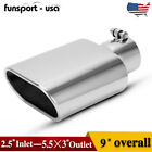 4 Inlet 6 Outlet 15 inch Long Stainless Steel Bolt On Diesel Exhaust Tip Black
