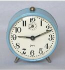 Vintage French Alarm Clock by JAPY FRERES Provence Blue Casing Works