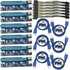 6pcs 6pin PCI E Express USB30 1x to 16x Extender Riser Card Adapter Power Cable