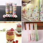 5PCS DIY Decorative Sticky Paper Adhesive Sticker 15cm10M Washi Tape