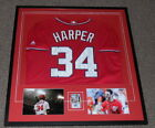 Bryce Harper Signed Framed 32x37 Rookie Card Jersey & Photo Display UDA Nats