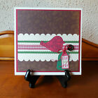 Pre made Scrapbook Album Christmas Memories Handmade Accordion Book 8x8 inches