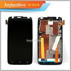 Black  LCD Replace Touch Screen Digitizer For HTC  ONE X AT&T With Frame Parts