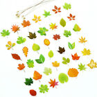 46pcs Diy Leaf Paper Stickers Flakes Romantic Love For Diary Decor Scrapbook KY