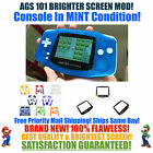 Nintendo Game Boy Advance GBA Blue Glow System AGS 101 Brighter Backlit Mod MINT