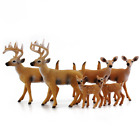 White Tailed Deer Family Figurines 6 Figure Set 2 Bucks 2 Does 2 Fawns 2 to