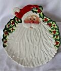 Fitz and Floyd Kringle Santa Claus Canape Plate Wall Plaque w/ Box Excellent