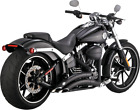 Vance  Hines Big Radius black exhaust Harley 13 17 Softail Breakout CVO FXSB