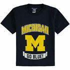 Champion Michigan Wolverines Youth Navy Strong Mascot T Shirt College