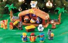 Christmas Kids Toddlers Toy Nativity Plastic Manger Playset Light Up Music Set
