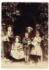 1900s Beautiful Victorian Children with Cats and Dogs 4 x 6