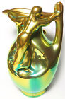 Zsolnay Iridescent Eosin Art Nouveau Figural Women Pitcher GORGEOUS