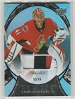 2015 15-16 Upper Deck Trilogy Rainbow Black #62 Craig Anderson PATCH 10 14
