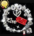 Authentic Pandora Bracelet Silver Wife Heart Love Story with European Charms