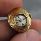 Vintage ladies Enicar wind up ring ? watch w/ fancy oval dome case - Running
