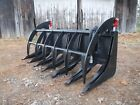 Skid Steer Tractor Loader Attachment 72 Root Rake Clam Grapple Ship 199
