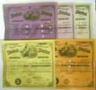 Five US Internal Revenue Special Tax Stamps Dealer in Manufactured Tobacco 1880s