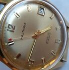 Super Clean Vintage 1970's Men's Waltham 17 Jewel Incabloc Swiss Made Watch Runs