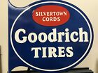 Large Size Goodrich Tire Silvertown Porcelain Advertising Sign