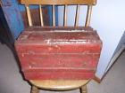 Wonderful Old Child's/Doll Camel Back/Steamer Truck-AAFA-Grungy Old Red Paint