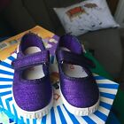 Cienta Purple Sparkle Mary Jane Shoes Sneakers Size 521