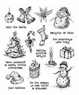 Stampers Anonymous Tim Holtz Christmas Stamp Set Tattered Christmas CMS318