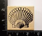 Clamshell Rubber Stampede Seashell Sea Shell Ocean Beach Theme Rubber Stamp 32A