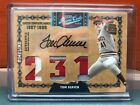 2008 Donruss Playoff Prime Cuts Tom Seaver Auto And Triple Patch #'d 5