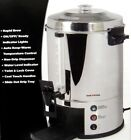 Coffee Maker Stainless Steel 100 Cup Home Kitchen Rapid Brew Non Drip Dispenser