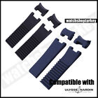 22mm Silicone Watch Band Wrist Strap Replacement For Ulysse Nardin Marine Diver