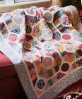 DOT TO DOT Quilt Pattern Easy Strip Piecing Fusible Applique from Magazine