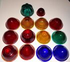 Vtg Do Ray + others Tail lights lens Glass Rat Rod Car Truck Red Green Blue